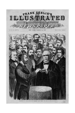 Washington, D.C.--The Inauguration--President Grant Taking the Oath of Office.
