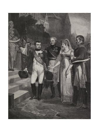 Painting Depicting Marriage of Napoleon and Queen of Prussia
