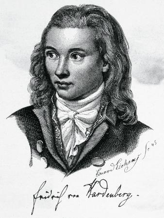 Illustrated Portrait of Poet Friedrich Leopold Von Hardenberg