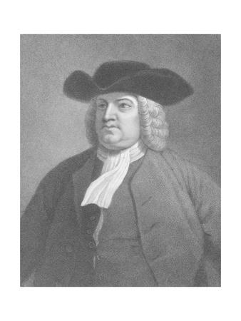 19Th-Century Engraving of William Penn after Benjamin West