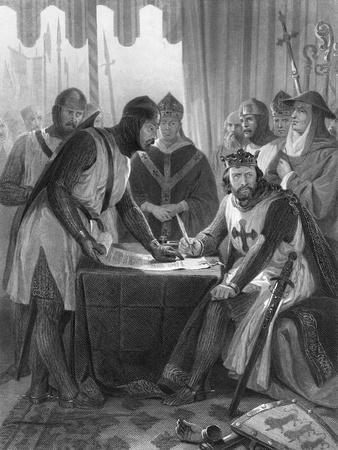 King John and Witnesses at Magna Carta Signing