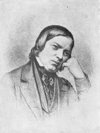 Portrait of German Composer Robert Schumann
