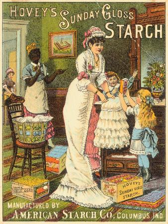 Illustrated Advertisement for Starch