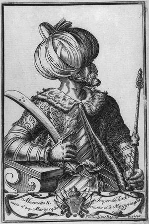 Engraving of Mohammed Ii W/Sword & Staff
