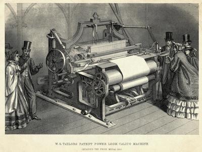 W.G Taylors Patent Power Loom Calico Machine Engraving