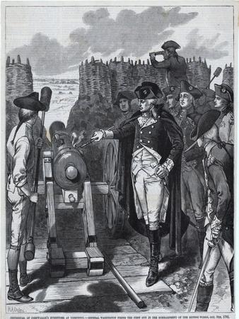George Washington Firing First Cannon