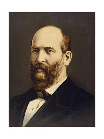 Lithograph of James A. Garfield