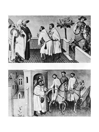 Polo Brothers Greet Kublai Khan; Illustr