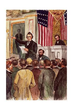 Illustration of Andrew Johnson Impeachment Trial