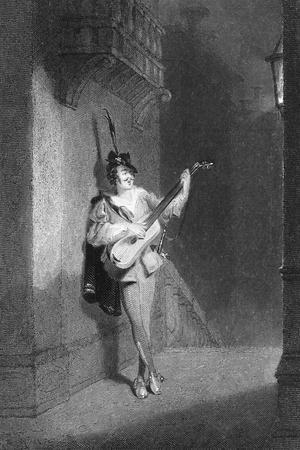 Portrait of Man Serenading