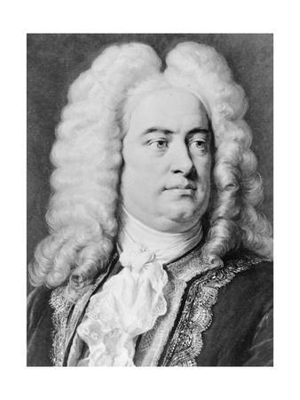 Drawing of Composer George Frederick Handel