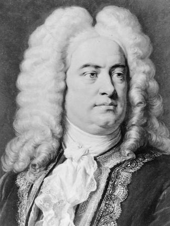 Drawing of Composer George Frederick Handel
