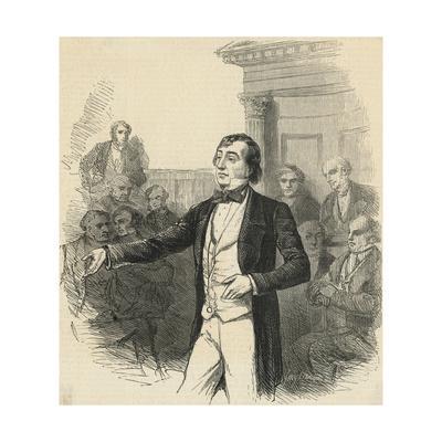 Portrait of British Prime Minister Benjamin Disraeli