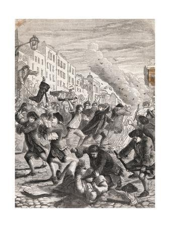 Rioters Fighting