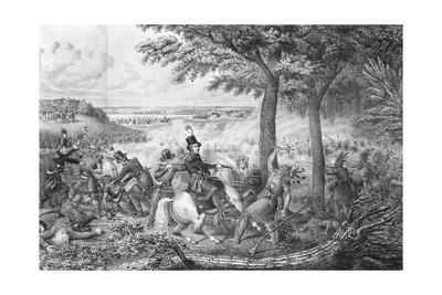 Lithograph Depicting the Battle of the Thames
