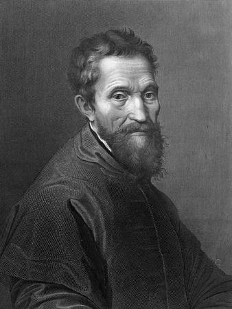 M. Angelo Buonarroti by A. Francois after a Self-Portrait by Michelangelo Buonarroti
