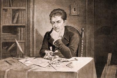 Robert Fulton Thinking at Desk