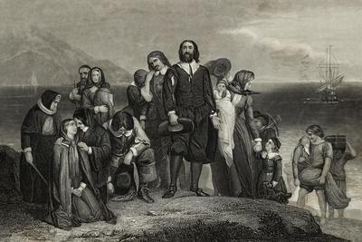 Pilgrims Arriving in New World