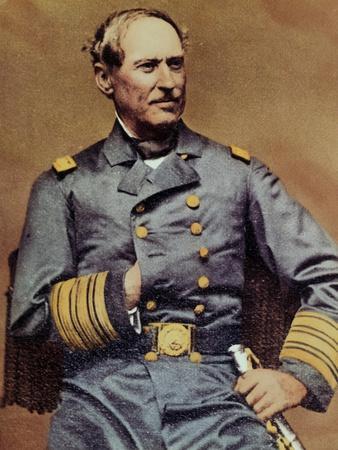 David Glasgow Farragut Posing in Regal Military Uniform