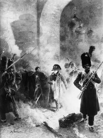 Napoleon Leaving Burning Kremlin
