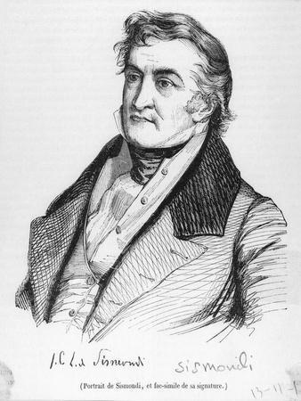 Jean Charles Leonary De Sismondi