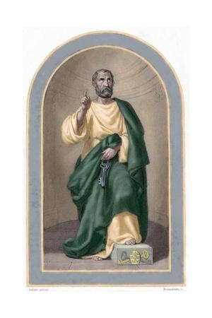 Saint Peter (C. 1 B.C.-67 A.C). Apostle of Jesus Christ and First Pope of the Catholic Church. Colo
