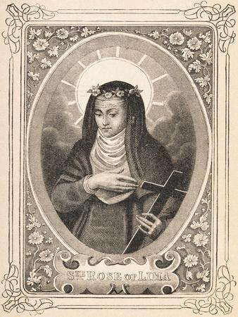 Portrait of Saint Rose of Lima Holding a Cross