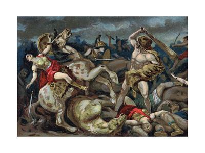 Illustration of Hercules Taking the Belt of Hippolyte