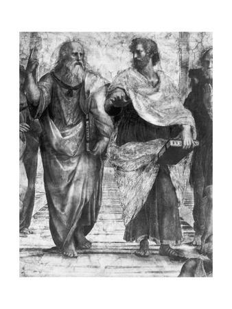 Detail Showing Plato and Aristotle from the School of Athens by Raphael