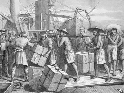 Workers Unloading Cargo