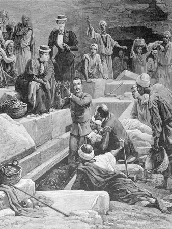 M. De Morgan Uncovering Mummy