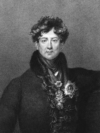 George Iv, King of England; Engraving