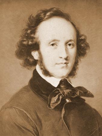 Composer Felix Mendelssohn in Suit