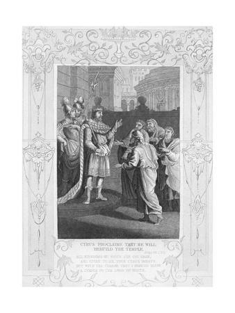 Cyrus Proclaims that He Will Rebuild the Temple Illustration