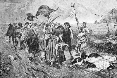 Illustration Depicting Women of French Revolution