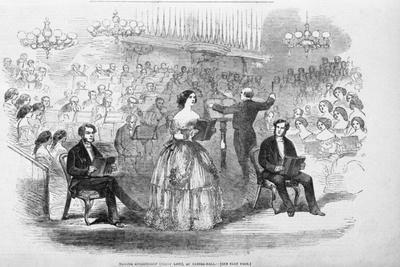 Madame Goldschmidt (Jenny Lind) at Exeter Hall Illustration