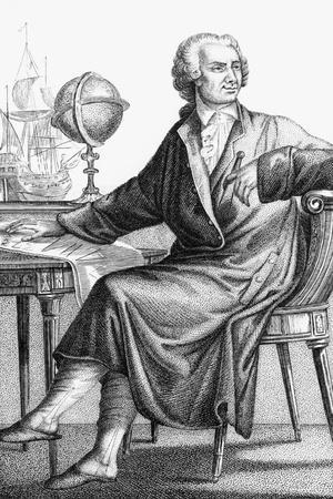 Drawing of Mathematician Leonard Euler