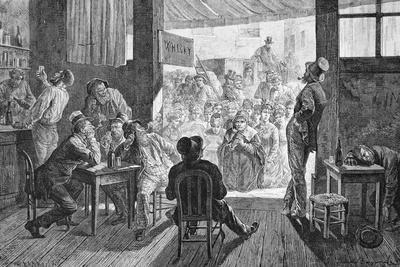 Women Singing to Men at a Bar