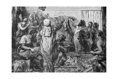 Quintus Fabius Declaring War to Carthegian Senate