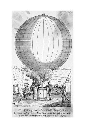 Filling Hydrogen Balloon in Paris