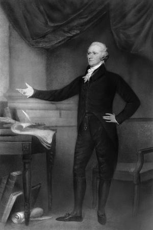 Alexander Hamilton Posing in Office