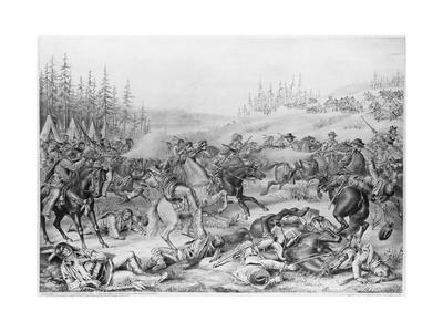 Capture and Death of Sitting Bull Lithograph