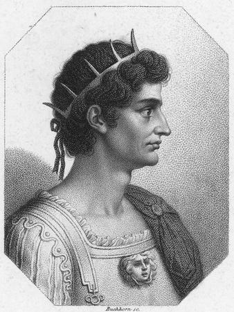 Profile Illustration of Augustus Caesar
