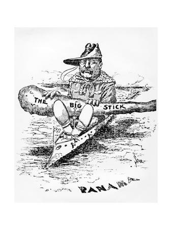 Cartoon of Theodore Roosevelt with the Big Stick