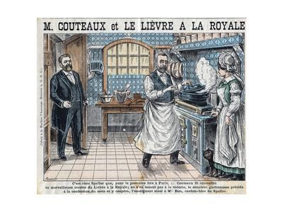 Illustration of Aristide Couteaux Cooking Lievre a La Royale