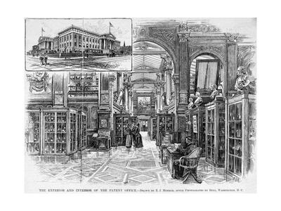 The Exterior and Interior of the Patent Office Engraving by E.J. Meeker