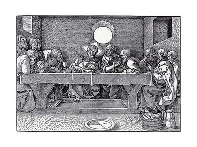 the Last Supper Albrecht Durer Woodcut