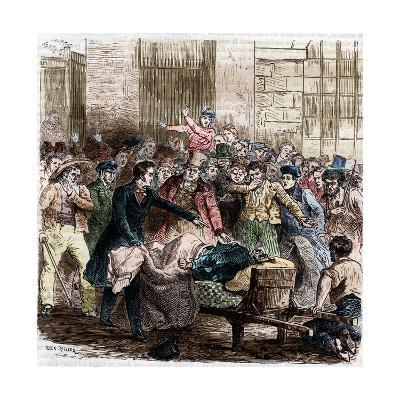 Illustration of Cholera in Paris by Jules Pelcoq