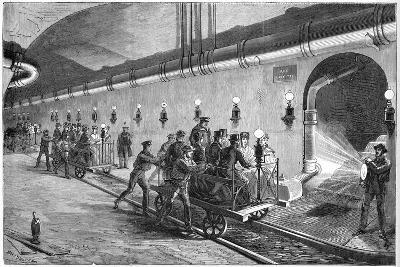 The Sewers of Paris - the Wagon Illustration by Jules Pelcoq