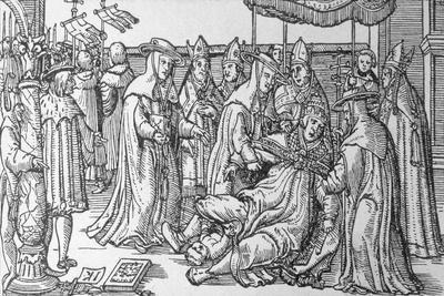 Illustration of Pope Giving Birth